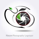#vector do logotipo da companhia da fotografia da natureza Fotos de Stock