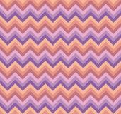 Vector doble rosado y púrpura inconsútil del modelo de zigzag del galón de la mezcla de la paleta imagen de archivo libre de regalías