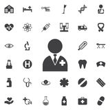 Vector doctor Icon. Medical concept set Stock Photos