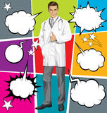Vector Doctor With Stethoscope Royalty Free Stock Image