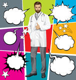 Vector Doctor With Stethoscope Stock Images