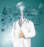 Vector Doctor With Stethoscope Stock Photos