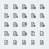 Vector document / file icons set Stock Photo