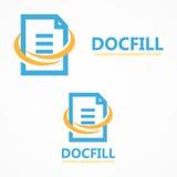 Vector document file logo Stock Photos