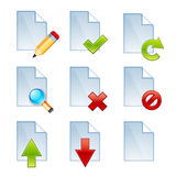 Vector document icons Royalty Free Stock Images