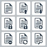 Vector document icons set Stock Photos