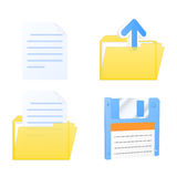 Vector document icons Stock Photo