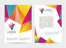 Vector document, letter or logo style cover Royalty Free Stock Photos