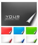 Vector document met realistische paginakrul Stock Foto