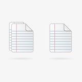 Vector documents icon Stock Photo