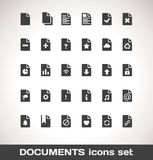 Vector Documents Icon Set Stock Images