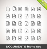 Vector Documents Icon Set Outline Stock Photos