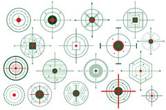 Vector Doel Crosshair Stock Foto