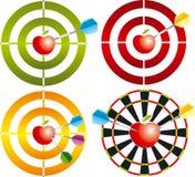 Vector doel met appel Royalty-vrije Stock Afbeelding