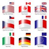 Vector doen afwijken vlaggen Royalty-vrije Stock Foto