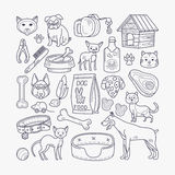 Vector dog and cat signs Royalty Free Stock Image