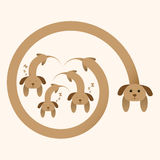 Vector dog family Royalty Free Stock Photos