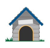 Vector dog house Stock Image