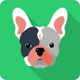 Vector dog icon flat design Royalty Free Stock Photos
