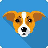 Vector dog icon flat design Stock Image