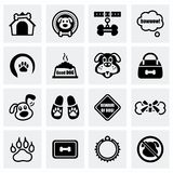 Vector Dog icon set Royalty Free Stock Photos