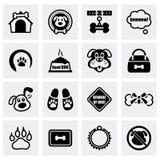 Vector Dog icon set Royalty Free Stock Photos
