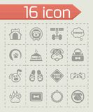 Vector Dog icon set Stock Images