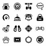 Vector Dog icon set Stock Image