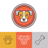 Vector dog icons and logos Stock Image