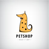 Vector dog logo, pet shop icon, veterinary. Stock Image