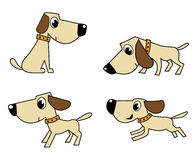 Vector dog set Stock Image