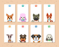 Vector dogs card Royalty Free Stock Photo