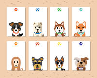 Vector dogs card template set Royalty Free Stock Photo