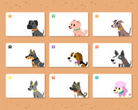 Vector dogs cards template Stock Photo