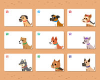 Vector dogs cards template set Royalty Free Stock Photo