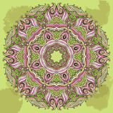 Vector Doily Round Lace Pattern. Circle Background Royalty Free Stock Images