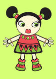 Vector doll Royalty Free Stock Photo