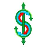 Vector dollar sign Royalty Free Stock Photo