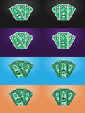 Vector dollars, abstract banknotes Stock Photography