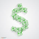 Vector dollars flat. green Stock Photography