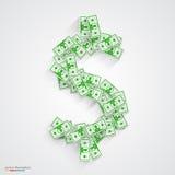 Vector dollars flat. green Stock Photography