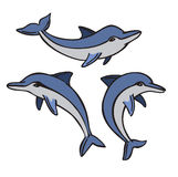 Vector dolphin set. Vector of a dolphin icon set on white background vector illustration