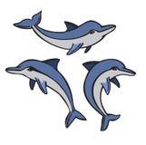 Vector dolphin set Stock Photo
