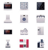 Vector domestic appliances set. Part 1 Stock Image