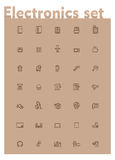 Vector domestic electronics icon set Stock Photo