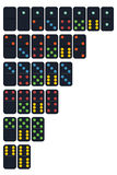 Vector of Domino set in trend colour Royalty Free Stock Photography