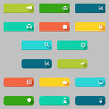 Vector donate and buying concepts flat buttons set. Royalty Free Stock Photography