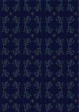 Vector donkerblauw naadloos patroon vector illustratie