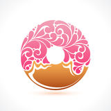 Vector donut icon logo Royalty Free Stock Images