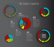 Vector Donut pie chart templates Stock Image